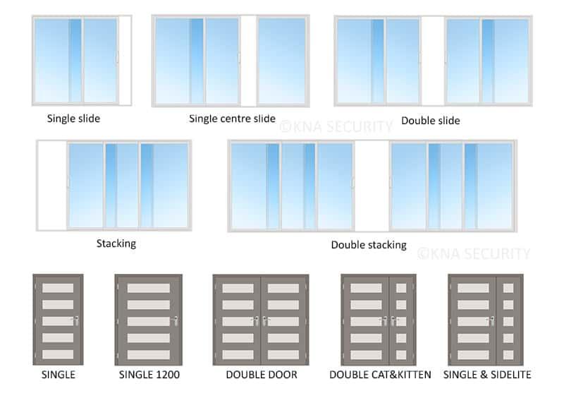 Screen door configurations